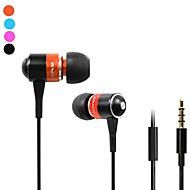 Fashion AWei Q3i  3.5mm Plug In-Ear Aluminum Alloy Super Bass  Microphone Earphones-(Orange / Blue / Black)