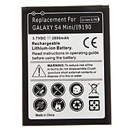 2800mAh mobiele telefoon batterij Zwart voor Samsung Galaxy S4 Mini/i9190