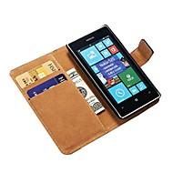 Valódi bőr pénztárca tok Nokia Lumia 520 állvány Hitelkártya tartó New Arrival