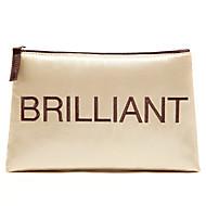 Quadrate Cloth Luxurious Golden Brilliant Letter Clutch Cosmetic Bag Makeup Storage Bag