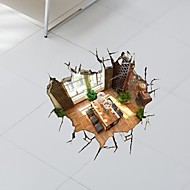 3D The Basement adesivos de parede Decalques