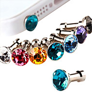 Diamond Anti-Dust Earphone Jack (Random Color)