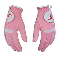TTYGJ Women's Micro Fiber Cloth Breathable Pink Golf Gloves - 1 Pair