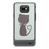 Cat Pattern Hard Case med Rhinestone för Samsung Galaxy S2 I9100