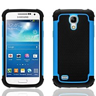 2-in-1 Design Hexagon Pattern Hard Case with Silicone Inside Cover  for Samsung Galaxy S4 Mini  i9190