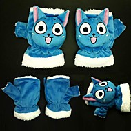 Handsker Inspireret af Eventyr Cosplay Anime Cosplay Tilbehør Handsker Blå Polar Fleece Mand / Kvindelig / Barn