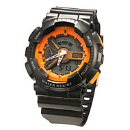 Unisex Analog-Digital Black Rubber Band Sporty Wrist Watch (Assorted Colors)