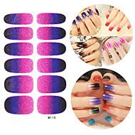 28szt Glitter Gradient Ramp Nail Art Naklejki Seria M No.110