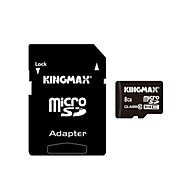 genuina kingmax tarjeta micro SD / SDHC con adaptador de tarjeta SD (8gb/class 10)