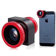 Three-in-One Multifunctional Lens for iPhone 5S/5(Red)