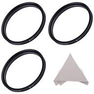 Filtre 58mm étoiles ensemble :4 points, 6 points, et 8 points filtres étoiles + chiffon de nettoyage