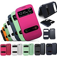 VORMOR® Double Touch Screen PU Leather Case for Samsung S3 9300(Assorted Colors)
