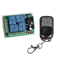 12V 4-Channel Wireless Remote Strøm Relay Module med Remote Controller (DC28V-AC250V)