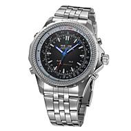 アナログ - デジタル ダブルディスプレイ ブラックダイヤル 腕時計 WH-904