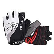 NUCKILY® Sporthandschuhe Fahrradhandschuhe Fahrradhandschuhe Antirutsch / Atmungsaktiv / Reflektierend Fingerlos Fahrradhandschuhe