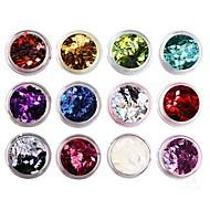 12-color Glitter Rhombus Sequins Nail Art Decorations(Random Color)