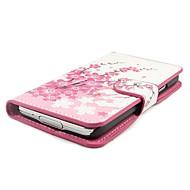 Voor Samsung Galaxy hoesje Kaarthouder / met standaard / Flip / Patroon / Magnetisch hoesje Volledige behuizing hoesje Bloem PU-leer
