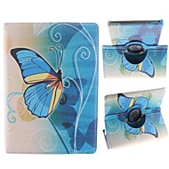 Large and Beautiful Butterfly Pattern 360 Degree Rotating PU Leather Case with Stand for iPad Air
