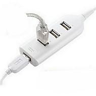 4 portas Mini Hub USB 2.0 para PC portátil de alta velocidade 480Mbps Branco