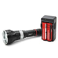 Diving Flashlights LED 5 Mode 1000 Lumens Adjustable Focus / Waterproof / Rechargeable / Impact Resistant / Nonslip grip Cree XM-L T6