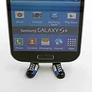 France Football Team National Flag Shoes Shaped Stand Bracket Dustproof Plug for Samsung S3 S4 S5