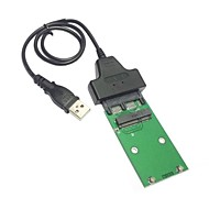 """1.8へのミニPCI-EのmsataのSSDへのUSB 2.0 """"マイクロSATA 7 + 9 16ピンアダプタがSSDハードディスク用のカードのPCBAに追加"""