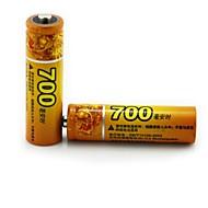 haomba 1,2 V 700mAh wiederaufladbare AA NiMH-Batterie 2pcs
