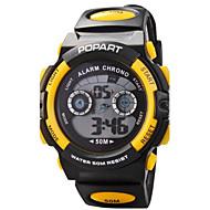 Γυναικεία Αθλητικό Ρολόι Ψηφιακό ρολόι Χαλαζίας Ψηφιακό Γιαπωνέζικο Quartz καουτσούκ Μπάντα Μαύρο Ασημί Πορτοκαλί Κίτρινο Κόκκινο Μπλε