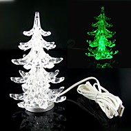 Multi-Color Slow Twinkle Romantic LED USB Powered Desktop Crystal Christmas Tree