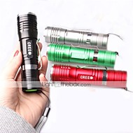 LED Flashlights/Torch / Handheld Flashlights/Torch LED 3 Mode 1000 Lumens Waterproof / Impact Resistant / Nonslip grip Cree XM-L T6 18650