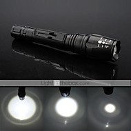LT-BG T6 Rechargeable 5-Mode 1×Cree XML-T6  Adjustable LED Flashlight(1800LM,2×18650,Black)