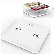 Samsung nokia lg htc iphone (beyaz) için 2 1 qi standart ultra ince plaka ped kablosuz şarj cihazı