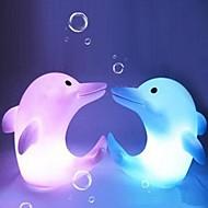 Multicolor Dolphin Design Plastic Night Light (1pcs)
