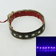 5730SMD 18 LED Strobe + dual-mode lit blue 4W 450-490nm 12V IP68 waterproof casing patch lights