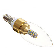 3W E14 Ampoules Bougies LED / LED à Double Broches 30 SMD 3014 210-240 lm Blanc Chaud AC 100-240 V