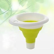 Opvouwbare inklapbare schaalbare siliconen trechter olie lek water lek infusie container willekeurige kleur