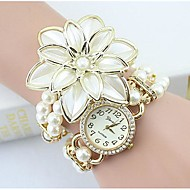 Women's Fashion Crystal Pearl Flower Shape Quartz Analog  Bracelet Watch(Assorted Colors) Cool Watches Unique Watches