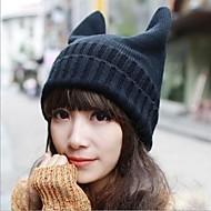 femei personalitate de moda de tricotat delicat diavol pălărie