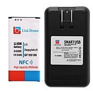 Link Traum Handy-Akku mit NFC + Ladegerät für Samsung Galaxy i9600 s5 (3800 mAh)