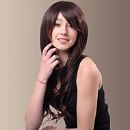 Capless Especially Yours Best Cheap Synthetic Wigs for Women Long Curly Hair with Side Bangs Female Wig