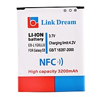 Link Dream 3200mAh  Cell Phone  Battery with NFC for  Samsung Galaxy S3 I9300  SIII S3  (EB-L1G6LLU)