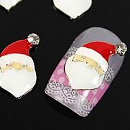 10pcs   Santa Claus For Xmans Finger Tips Accessories Nail Art Decoration