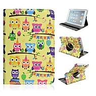 Cartoon Owl Pattern Rotating Case for iPad mini 3, iPad mini 2, iPad mini