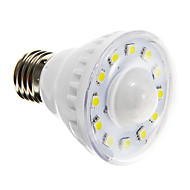 E26/E27 3W 12 SMD 5050 160-180 LM Natural White A60(A19) Sensor LED Spotlight AC 220-240 V