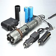 LED Flashlights / Handheld Flashlights LED 5 Mode 1000/1200/2000 LumensAdjustable Focus / Waterproof / Rechargeable / Nonslip grip /