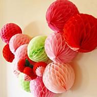 8 inch honingraat weefsel papieren bloem bal (meer kleuren)