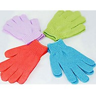 2PCS Moisturizing Spa Bathwater Scrubbing Bath Exfoliating Gloves For showering(Random Color)