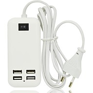 15W 4Ports USB Desktop AC Power Charger Adapter for Samsung Mobile Phone,Iphone and others(3A,150cm,EU Plug)