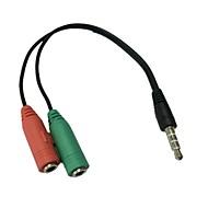 Stereo da 3,5 mm Spina 4 posizioni a 3.5mm microfono& jack per cuffie per adattatore audio iphone