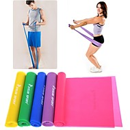 Green/Purple/Pink/Yellow/Blue TPR Stretch Band by Yoga Pilates Resistance Band PowerTraining